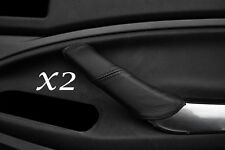 BLACK STITCH FITS FORD C MAX 2008-2010 2X REAR LEATHER DOOR HANDLE COVERS ONLY