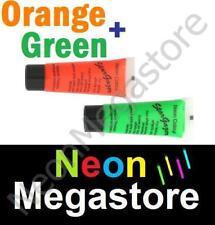 2 Stargazer UV Neon Face Body Paint Green & Orange
