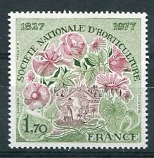 FRANCE 1977 timbre 1930, FLEURS, SOCIETE d' HORTICULTURE neuf**