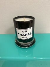 chanel candle Small Black Glass Jar