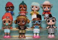 LOL Surprise Doll Boys Series 2 Complete Set of 8 Piano King Neon Boi Rewrapped