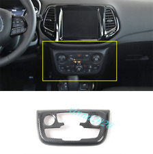 Carbon Fiber Interior Air Condition Panel Cover Trim For Jeep Compass 2017-2020