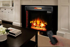 """Embedded 1500W 33.5"""" Electric Insert Heater Fireplace Log Flame Remote Control"""
