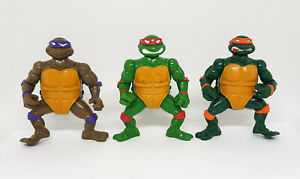TMNT Vintage Headdroppin' Turtles Figure Lot 1991 Don Raph Mike Playmates
