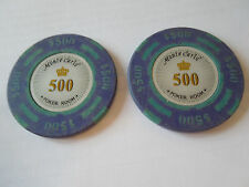 2x Poker Chip Golf Ball Markers-Monte Carlo 14 G. $500