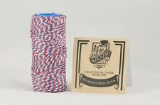 Red White & Blue Butchers-Bakers-Craft-Rayon Twine/String 125g Approx 75m