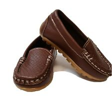 Toddler Boys Soft Loafers Slip On Oxford Flats PU Boat Shoes