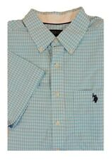 US Polo ASSN Pony Short Sleves Gingham Plaid Holiday Classic Dress Shirt 3XLT 3X