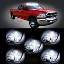 5x Smoke Top Cab Marker Clearance Cover +5x 5730SMD White Led Light For Chevy