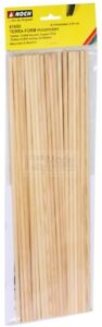 NOCH 61650 - Profilati in legno per struttura montagne. 35Pz. 40 cm lunghi