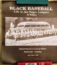 Negro League poster  8 signatures  Monte Irvin ..Gene Benson. Walter Willis