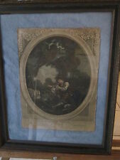 Lot of 2 French Royal Court prints w/Gold framed in velvet-NICE!!!-late 1700s!!!