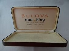 Bulova Sea King  Watch Box Vintage 1960's