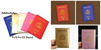 NEW Passport Travel PU Leather Organizer Holder Card Case Protector Cover Wallet