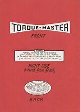 Torque-Master Villiers Vintage Rotary Mower Engine Decals