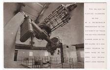 Reflecting Telescope McDonald Observatory Interior University Texas postcard