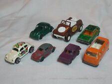 7 Volkswagen Die Cast VW Bug Kubelwagen Kombi Golf Rabbit Midgetoy Tootsietoy