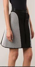 Ohne Titel Scuba Mesh Side Panel Black White Skirt $385 New Size 2