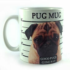 NEW PUG MUG SHOT GIFT MUG CUP PRESENT CUTE DOG PUPPY LOVER OWNER BREEDER FUNNY
