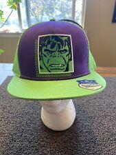 Hulk Marvel Green Purple Hat Cap Trucker Snapback Adjustable