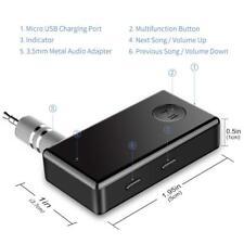 Bluetooth Receiver, Viewtek Streambot Bluetooth Adapter; Hands-Free Car Kit Mini