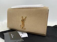 Saint Laurent Kate Monogram YSL Medium Lizard Emboss Shoulder Crossbody Bag