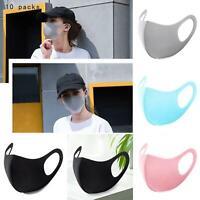 10PCS Reusable Women Men Washable Face Cover Mouth Mask Protective