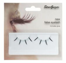 Stargazer False Feather Eyelashes #42 Black and Light Blue UV Glow