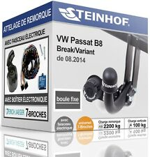 ATTELAGE fixe VW PASSAT B8 Break Variant de 2014+FAISC.UNIV. 7-broches