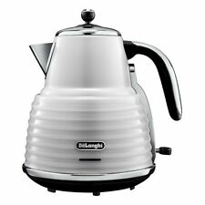 DeLonghi KBZ3001W Scultura 3000w Cordless Jug Kettle - White Ex-display