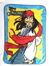 DISNEY Plush Pirates Of The Caribbean Throw Blanket Acrylic 35x45 SOFT Euc
