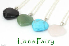 Gemstone Silver Plated Love & Hearts Costume Necklaces & Pendants