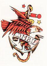 Temporary Tattoo, Einmal Tattoo, Traditional BTT2,5-10, Adler mit Anker U.S.M.C.