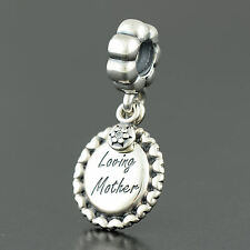 Authentic Genuine Pandora Sterling Silver Loving Mother Charm - 791127CZ