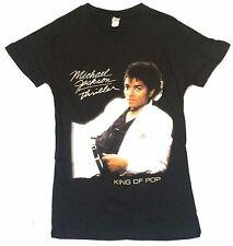 Michael Jackson Thriller Image King Of Pop Girls Juniors Black T Shirt New Med