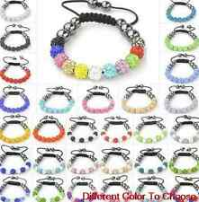 4pcs/lot 10mm mixed white blue Wholesale beads men crystal shamballa bracelet