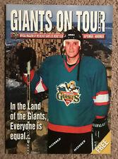 2000-2001 Belfast Giants Inaugural Season September-November Program