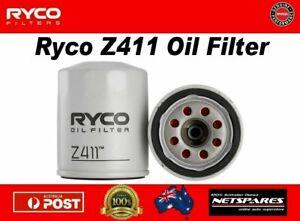 Ryco Z411 Oil Filter Suits Ford Kia Mazda Mitsubishi