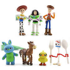 Toy Story Woody Buzz Lightyear Jessie Bulleye 7 PCS Mini Figures Set Cake Topper