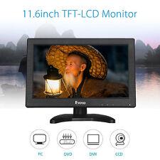 """11.6"""" Inch TFT LCD Monitor 1366*768 AV HDMI BNC Screen Speaker For CCTV Camera"""