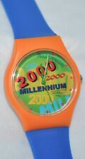Vintage 1999 Millennium Year 2000 Colorful Watch In Display Case New Old Stock