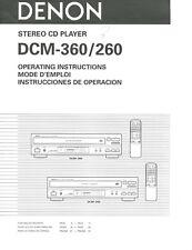Denon Dcm 260 - 360 Original Manual