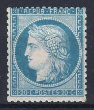 """FRANCE STAMP TIMBRE N° 37 """" CERES 20c BLEU SIEGE DE PARIS 1870 """" NEUF x TB  M326"""