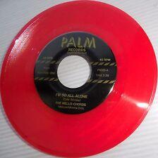 MELLO-CHORDS Eddie Cochran Doowop RedVINYL 45 I'm So All Alone Teardrop Falls m1