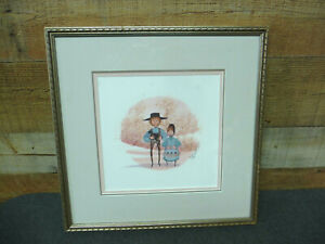 P Buckley Moss Amish Children 1988 Print -- Signed Numbered 505/1000 Framed
