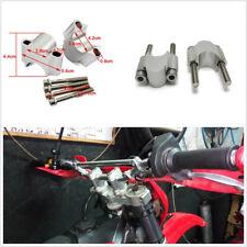 2 Pcs CNC Aluminum Universal 28mm Motorcycle Handlebar Riser Kit Clamp Mount Set