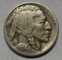 1924-D Buffalo Nickel Grading Fine Scarce Date       S145