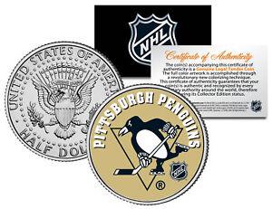 PITTSBURGH PENGUINS NHL Hockey JFK Kennedy Half Dollar U.S. Coin * LICENSED *