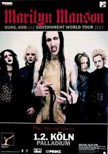 MARILYN MANSON - 2001 - Konzertplakat - Guns God - Tourposter - Concert - K