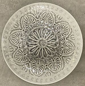 Il Mulino Grey Medallion MELAMINE Side Plates Set Of 4